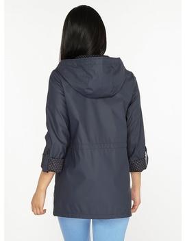 Petite Navy Rain Coat by Dorothy Perkins