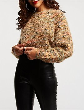 Multicolor Pullover Sweater by Charlotte Russe