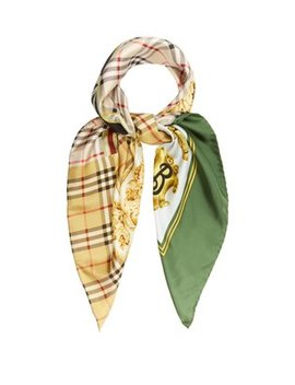 Archive Print Silk Square Scarf by Matches Fashion