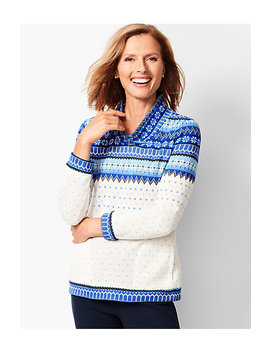 Fair Isle Funnel Neck Top by Talbots