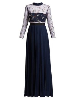 Sequinned Star Tulle And Crepe Dress by Matches Fashion