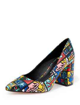 Keith Haring X Alice +Olivia Collage Pumps by Alice + Olivia