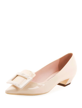 Gommette Patent Pointed Pumps, Nude by Roger Vivier