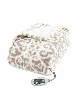 Heated Blanket. Best Heat Up Soft Portable Washable Winter Single Electric Lap Fleece Throw. Warm Wrap Auto Timer Home & Travel, Fishing. Children, Kids & Adults (Brown) by Heated Blanket