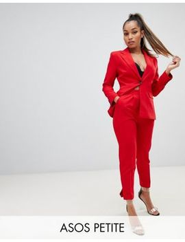 Asos Design Petite Red Suit Slim Pants by Asos Design