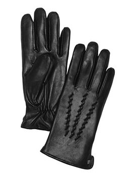Whipstitched Points Touchscreen Leather Gloves by Lauren Ralph Lauren