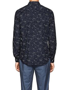 Irving Geometric Cotton Voile Shirt by Theory
