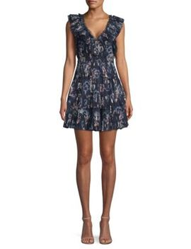 Silk Tiered Ruffle Dress by Rebecca Taylor