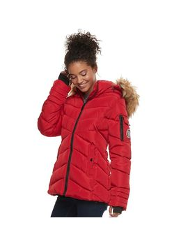 Madden Nyc Juniors' Short Puffer Jacket by Kohl's