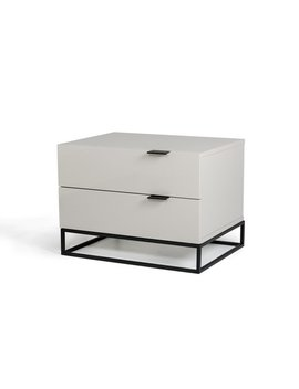 Modrest Hera Modern Grey Nightstand by Generic