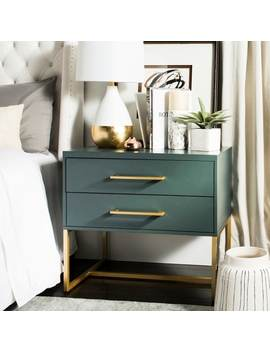 Safavieh Estelle Teal Nightstand by Safavieh