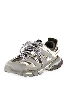 Women's Track Mixed Media Sneakers by Balenciaga