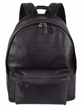 Campus F54786 Rucksack Black Leather Backpack by Coach