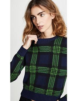 Tartan Plaid Crew Neck Sweater by Bop Basics