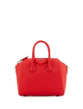 Antigona Mini Sugar Satchel Bag, Red by Neiman Marcus