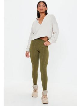 Khaki Bandage Leggings by Missguided