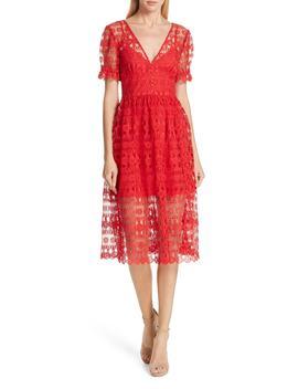 Lace Midi Dress by Self Portrait