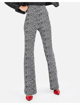 Super High Waisted Jacquard Stretch Flare Pant by Express