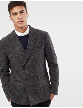 Selected Homme Slim Fit Double Breasted Blazer With Fine Grid Check by Selected Homme