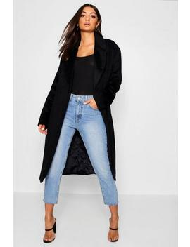 Tall Belted Oversized Wool Look Coat by Boohoo