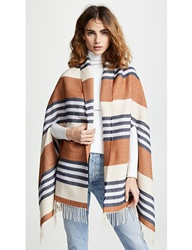 Varigated Stripe Cape Scarf by Madewell