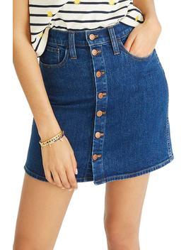 Stretch Denim Straight Miniskirt by Madewell