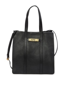 Textured Leather Tote Bag by Moschino