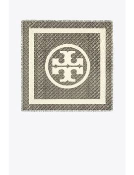 Wild Pansy Logo Square Scarf by Tory Burch