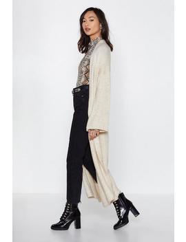 Typical Softie Maxi Cardigan by Nasty Gal