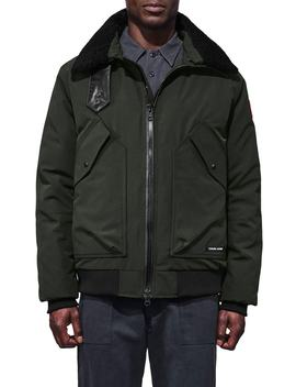 Bromley Slim Fit Down Bomber Jacket With Genuine Shearling Collar by Canada Goose