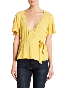 Flutter Sleeve Wrap Top by Elodie