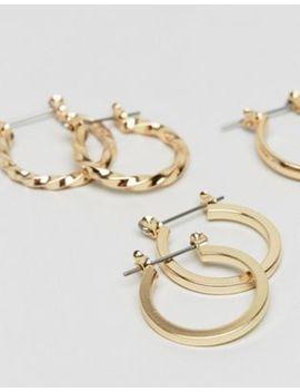 Набор из 3 пар золотистых сережек колец Asos Design — 20 мм by Asos