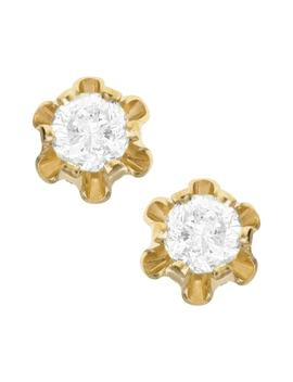 14k Gold & Diamond Earrings by Mignonette