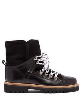 Edna Shearling Lined Leather Boots by Matches Fashion