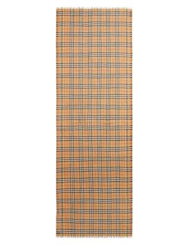 Rainbow Stripe Vintage Check Scarf by Burberry