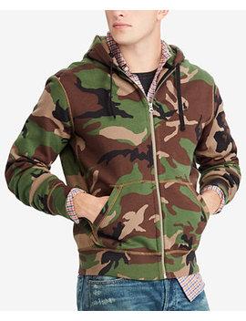 Men's Camo Fleece Hoodie by Polo Ralph Lauren