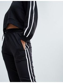 Ax Paris Sweatpant With Striped Side Detail by Sweatpants