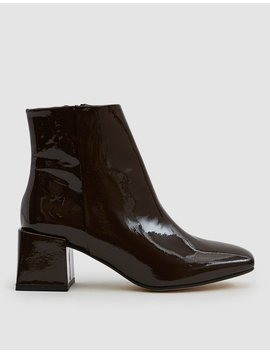 Lazaro Patent Ankle Boot In Bombon by Lo Q