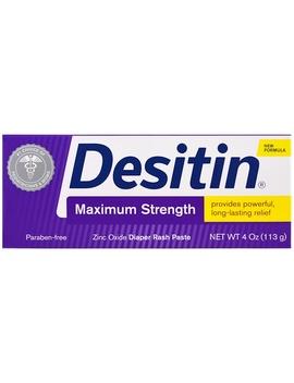 Desitin, Diaper Rash Paste,  Maximum Strength, 4 Oz (113 G)Desitin, Diaper Rash Paste,  Maximum Strength, 4 Oz (113 G) by Desitin