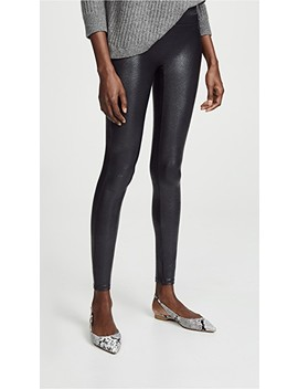 Faux Leather Pebbled Leggings by Spanx