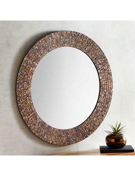 "Catriana Mosaic 36"" Round Mirror by Pier1 Imports"