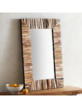 Eternal Brown Wood Framed 24x36 Mirror by Pier1 Imports