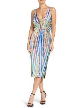 Margo Plunge Neck Sequin Dress by Dress The Population