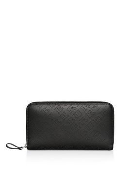 Perforated Leather Ziparound Wallet by Burberry