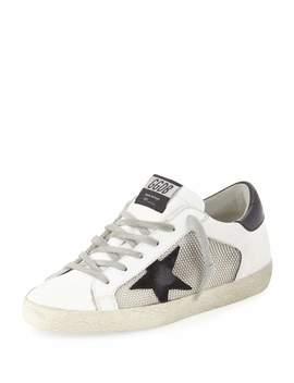 Superstar Mixed Platform Sneakers by Golden Goose