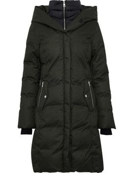 Delfina Quilted Shell Down Hooded Coat by Soia & Kyo