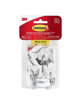 Command™ Small Wire Hooks Mega Pack, White, 28/Pack (17067 Mpes) by Command