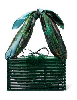 Guaria Acetate And Silk Satin Tote by Montunas