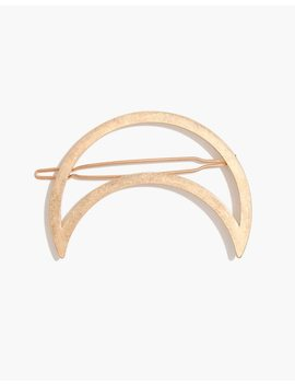 Crescent Moon Barrette by Madewell
