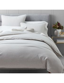 Flannel Solid Duvet Cover + Shams   Frost Gray by West Elm